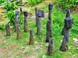Carib Indians chief statues
