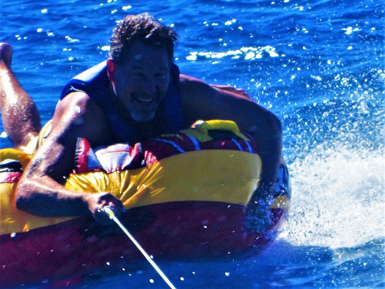 Check out that smile while tubing