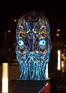 Sviatovid is the newest 360-degree projected sculpture from BARTKRESA studio