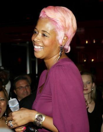 Kelis Pink Hair