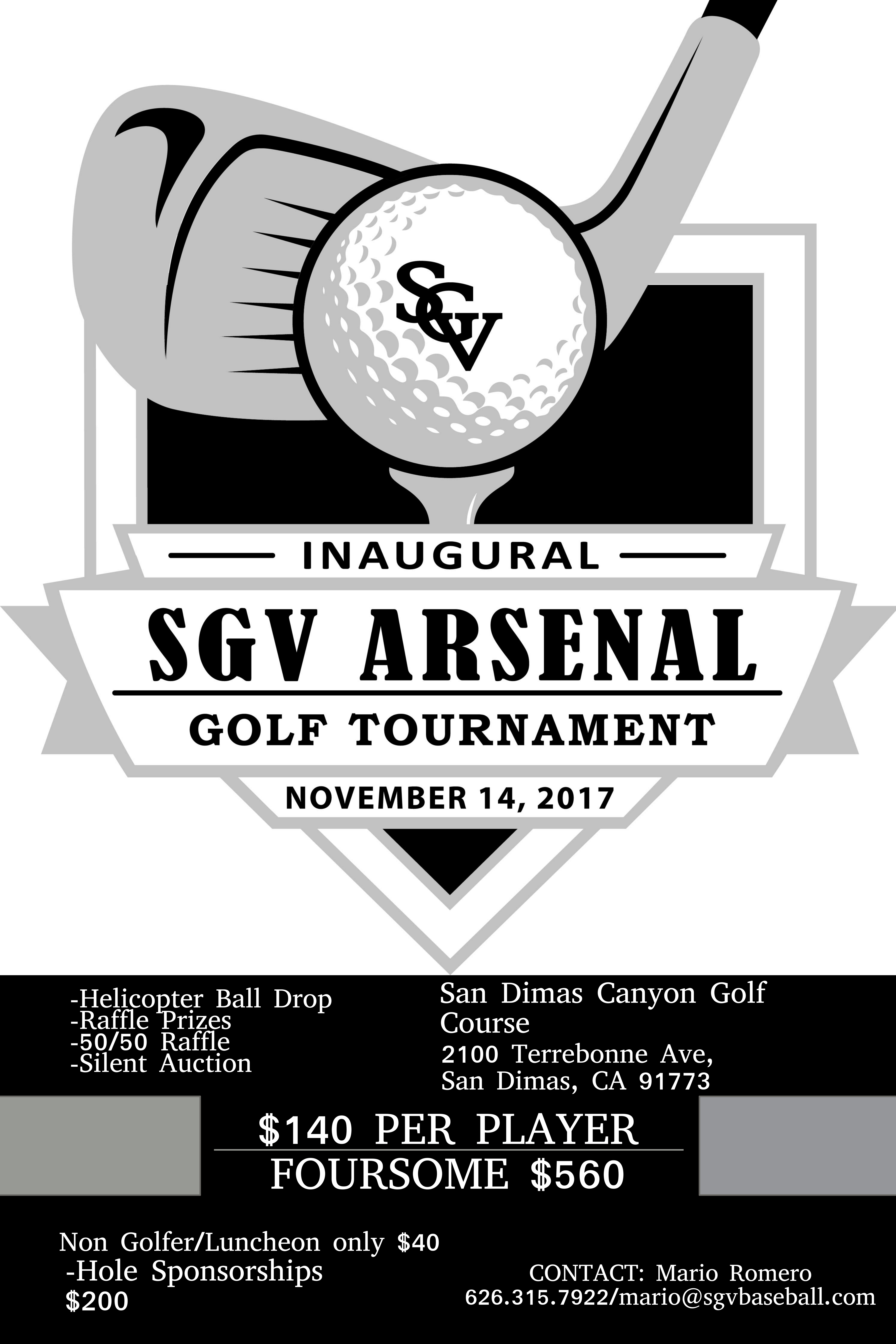 Inaugural SGV Arsenal Golf Tournament : SGV Arsenal Baseball