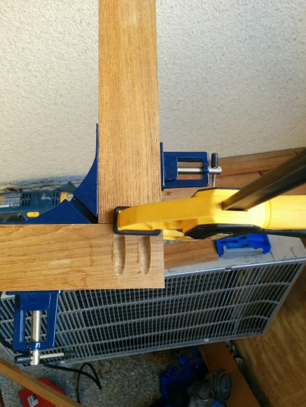 """All clamped up to put in the 3/4"""" screws. I had to order those online."""