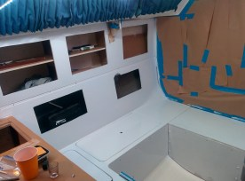Stbd Side of the cabin, 2nd coat