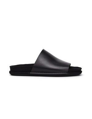 Ann Demeulemeester Black Leather Slippers