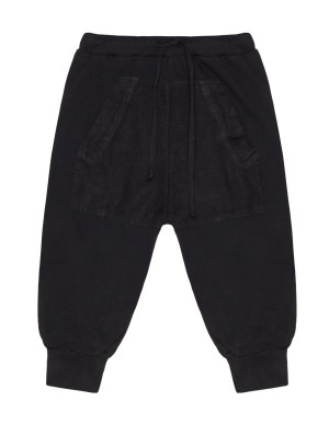 Lost&Found kids Black Cotton Trousers