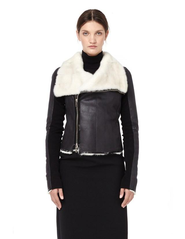 HUN Rick Owens Short mink fur jacket