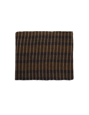 Ziggy Chen Brown and Green Wool Scarf