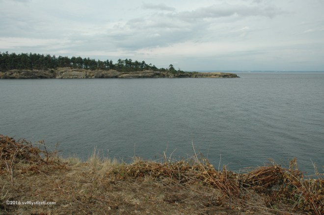 Sucia Island; entrance to Echo bay from Johnson Point; a nice hike around the south side of the island.