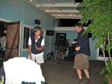 Judy teaching Pete to dance