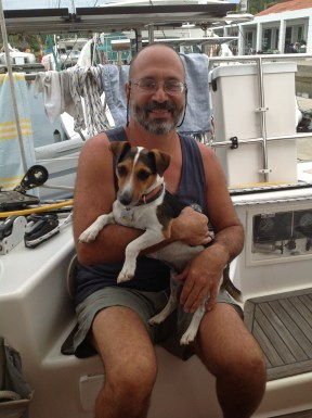 Scott and Eddie from S/V Roller Coaster. Shelter Bay Panama Sept. 2014