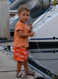 Boat kid and all around daredevil Ivan