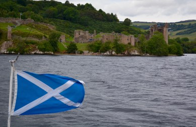 No Nessie sightings but a lovely view of Urquhart Castle during our boat ride on Loch Ness