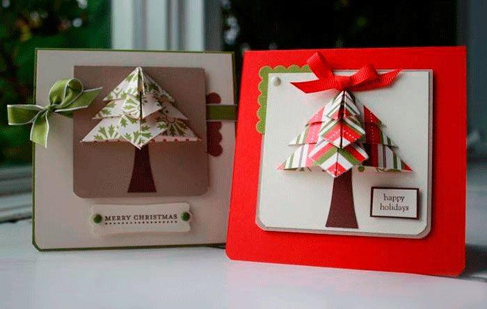 Рождестволық карта оригами шіркеуі