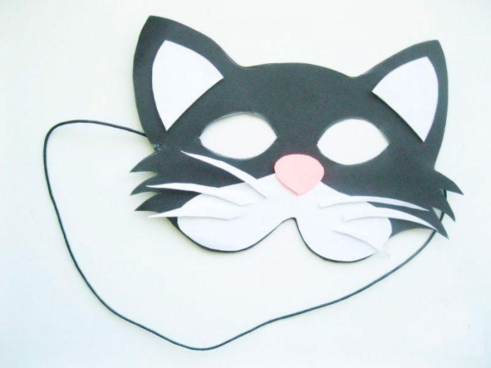 """Masker emosional sudah siap! Topeng Kertas """"Kucing"""""""