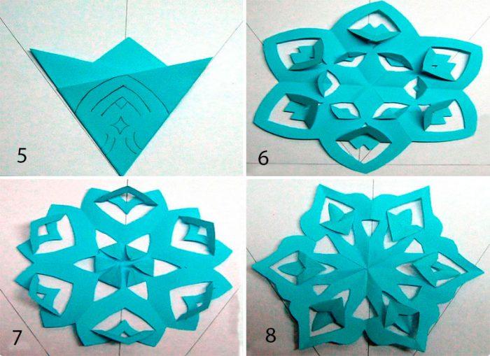 Snowflakes dalam Teknik Kirigami Master Class