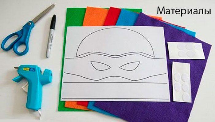 Turtle maszk - Ninja