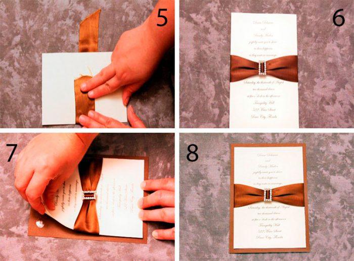 Stílusos esküvői meghívó lépésenkénti mester osztály