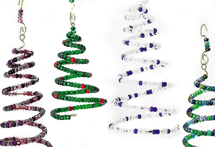 Perlen-Spiral-Weihnachtsbaum
