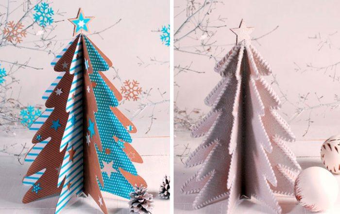 Kartondan Noel ağacı