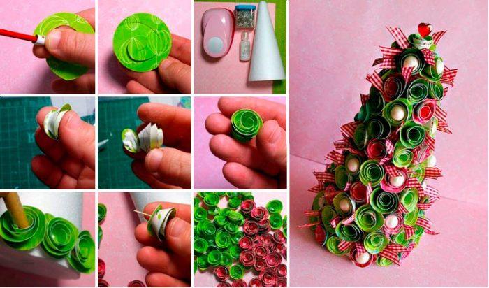 Kreativt juletræ