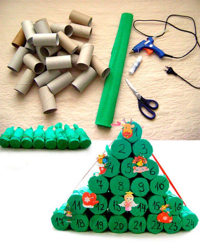 ต้นคริสต์มาสทำจากพุ่มไม้