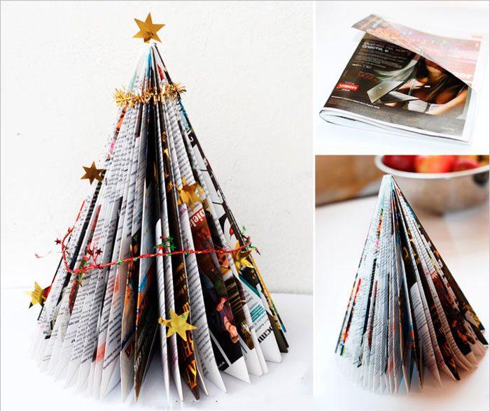 ต้นคริสต์มาสจากนิตยสาร