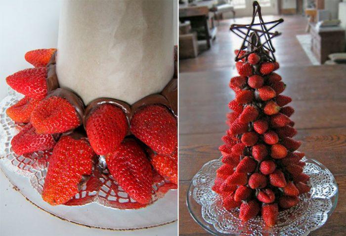 Árbol de navidad de fresa