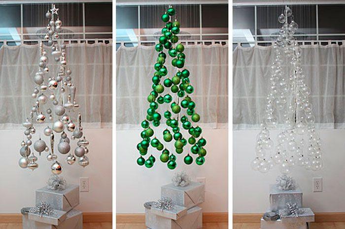 Árvore de Natal caindo