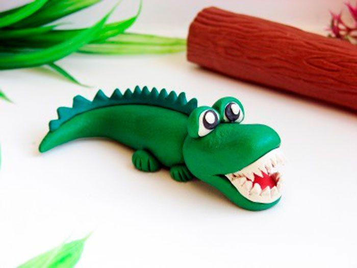 التمساح من البلاستيسين