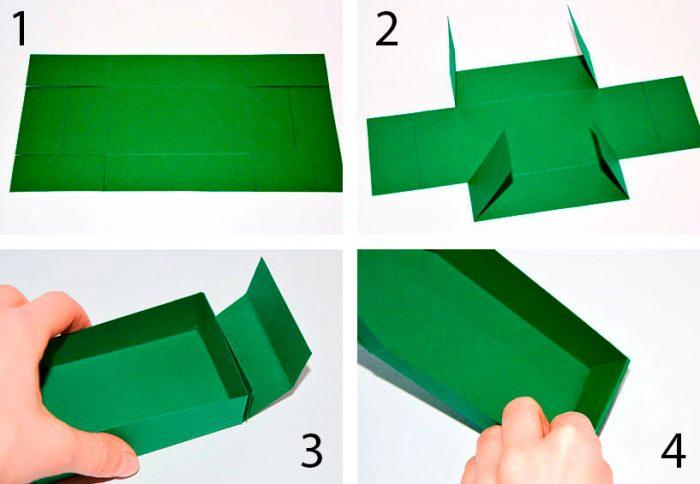 Hur man gör en låda med kartong
