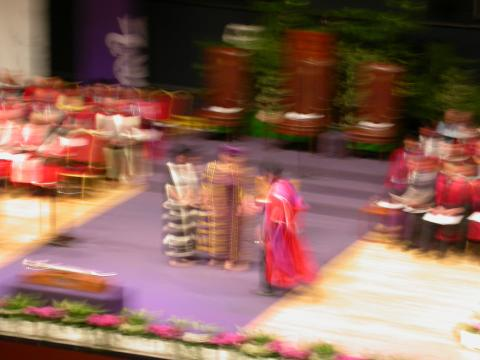 Me at the moment of graduation.  Or perhaps Bigfoot.