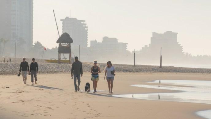 Early morning beach walks
