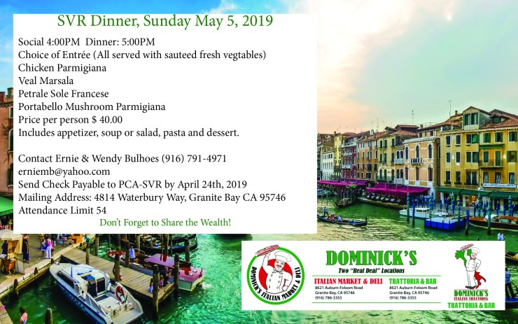 Monthly Dinner - Dominick's @ Dominick's Trattoria & Bar | Granite Bay | California | United States