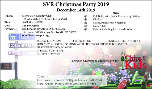 SVR Annual Christmas Dinner @ Sierra View Country Club | Roseville | California | United States