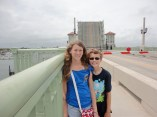Walking over the St. Augustine bridge