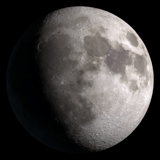 Waxing gibbous. Visible to the southeast in early evening, up for most of the night.