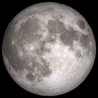 Full Moon. Rises at sunset, high in the sky around midnight. Visible all night.