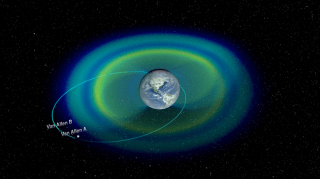 A narrated short video featuring visualizations of the Van Allen Belt's three ring structure.  This video was not part of the news briefing, but is included in the associated feature story. For complete transcript, click here.