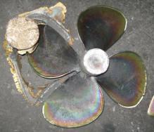 Foundry cast 4 blade propeller