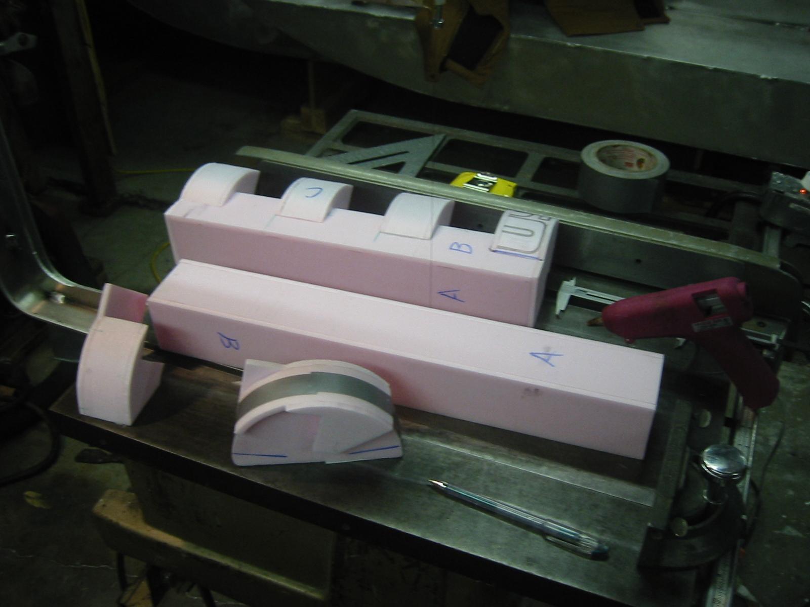 Gluing up the inner box.