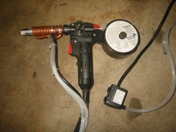 (2) Spoolmate 185, spool gun with a DIY water cooled barrel.