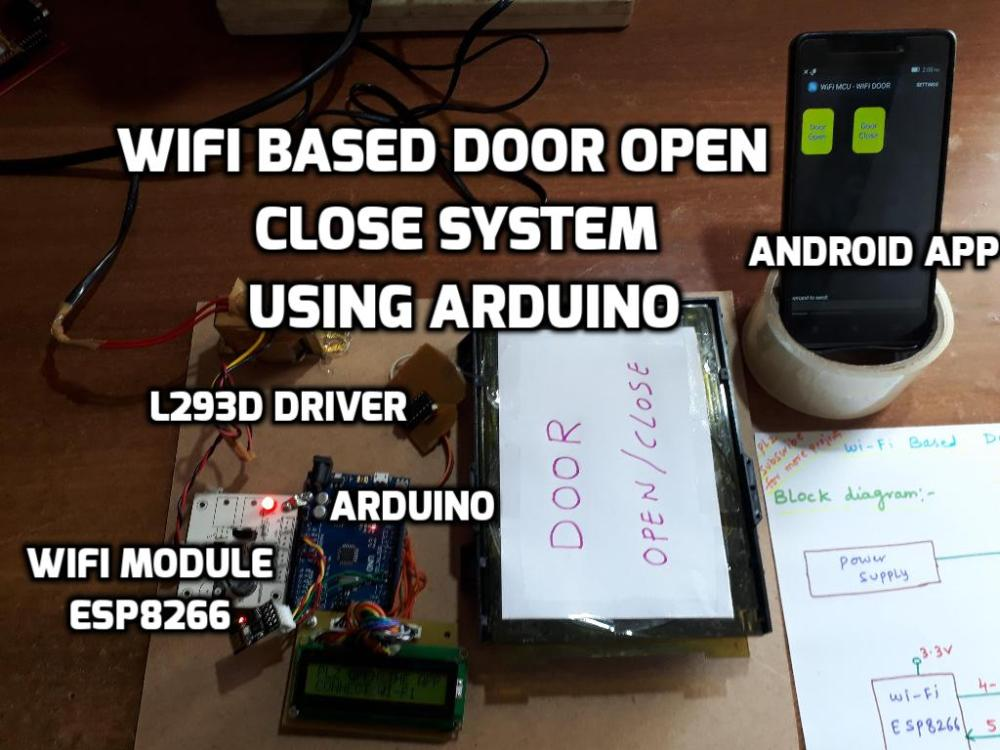 medium resolution of wifi based door open