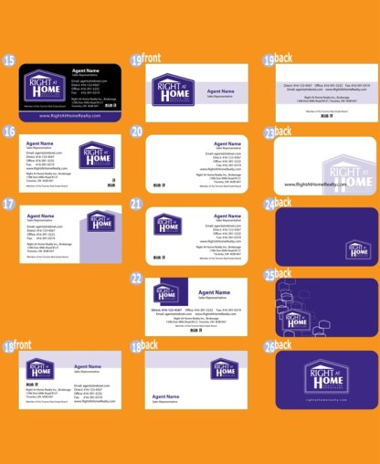 right at home business cards
