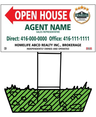 homelife directional real estate sign