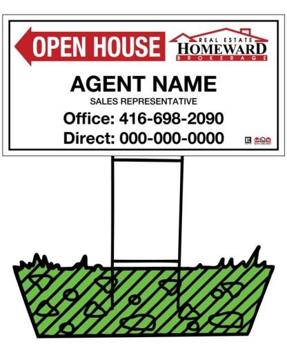 homeward real estate directional sign