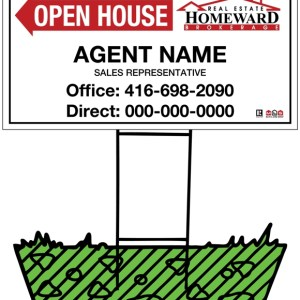 homeward real estate directional sign