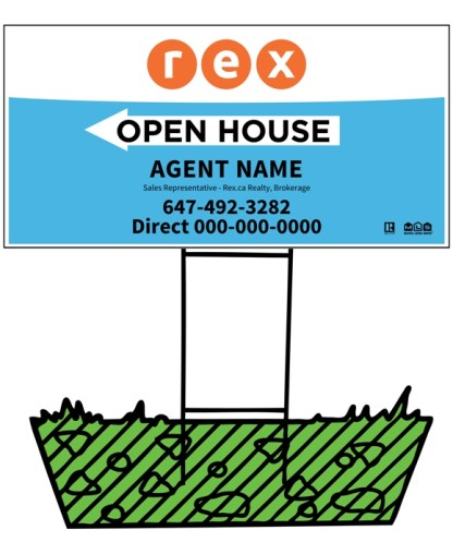 rex real estate directional sign