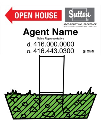 sutton real estate directional sign