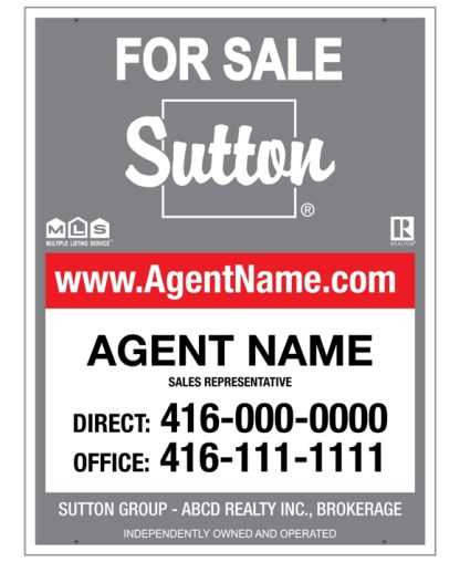 sutton real estate for sale sign