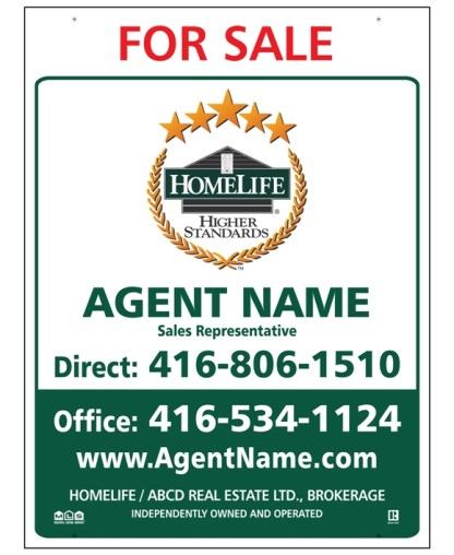 homelife real estate for sale sign
